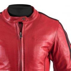 blouson-moto-femme-rouge-detail