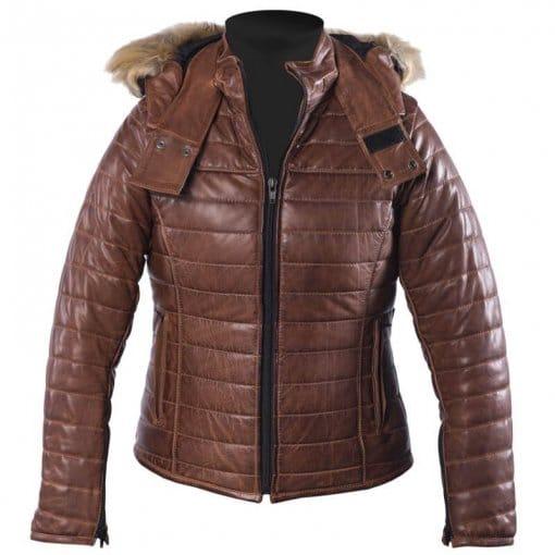 blouson-femme-helstons-light-cuir-soft-camel-doudoune-moto-hiver-marron