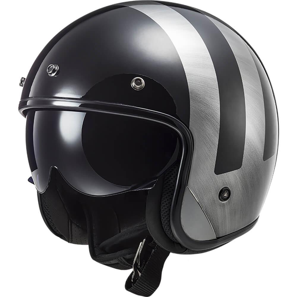 casque-moto-femme-jet-ls2-of601-bob-lines-noir-gris-1
