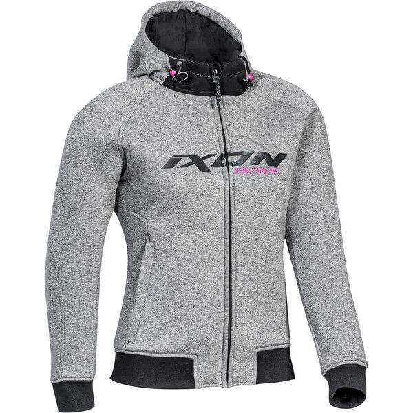 sweat-moto-femme-ixon-palermo-lady-gris-rose