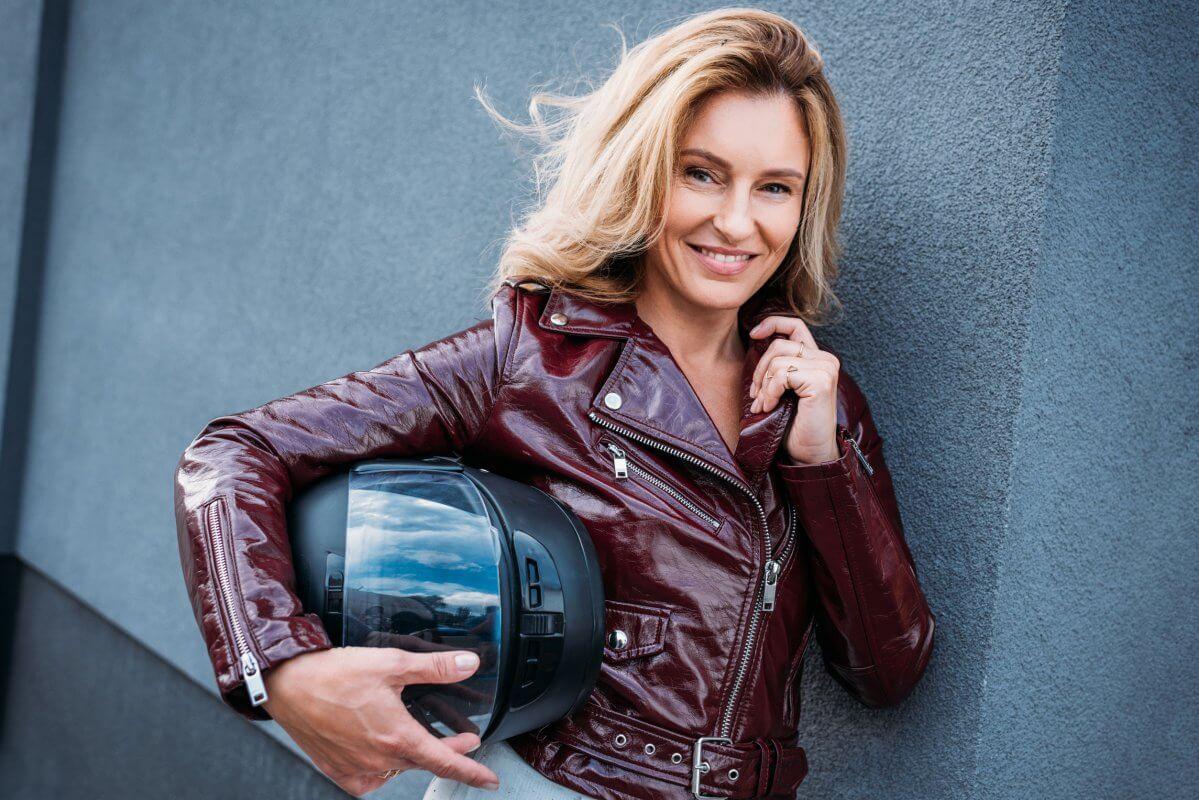 cuir femme moto
