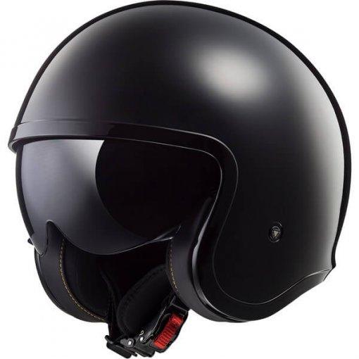 casque-jet-femme-ls2-spitfire-solid-noir