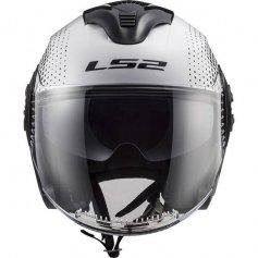 casque-jet-ls2-spin-white-black-front