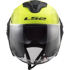 casque-jet-ls2-spin-yellow-front