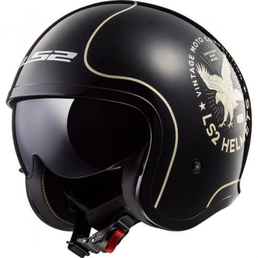 casque-moto-jet-femme-spitfire-flier-noir