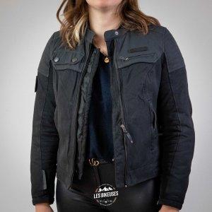 Blouson moto femme Borough Lady noir