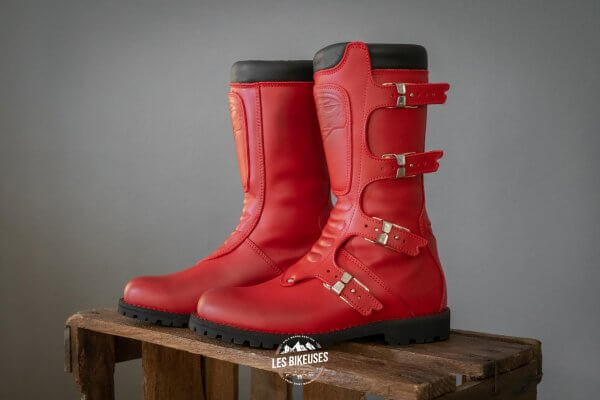 Bottes-moto-femme-Continental-Red