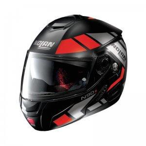 casque-modulable-nolan-n90-euclid-rouge-noir-gris-face