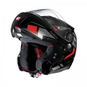 casque-modulable-nolan-n90-euclid-rouge-noir-gris-face2