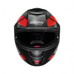 casque-modulable-nolan-n90-euclid-rouge-noir-gris-face3