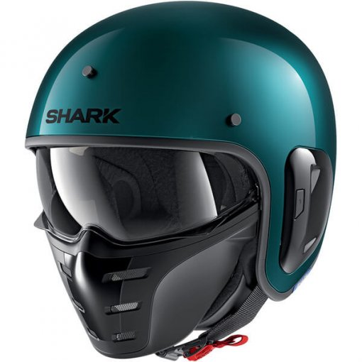 casque-moto-jet-shark-s-drak-vert-metallique-face
