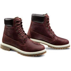 chaussure-moto-femme-mud-waterproof-ixon-bordeaux