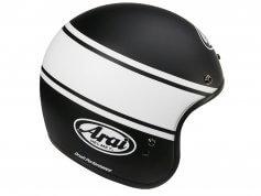 arai-casque-jet-freeway-classic-bandage-noir-blanc-cote